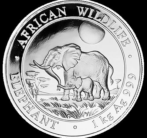 1 kg Silber - Somalia Elefant - 2011 Silbermünze
