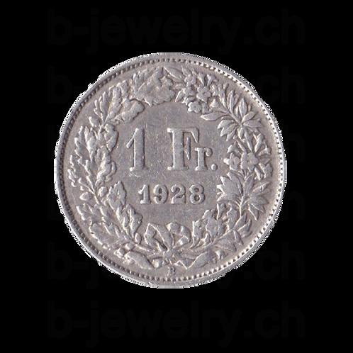 1 Franken 1928 Schweiz Silber Silbermünze