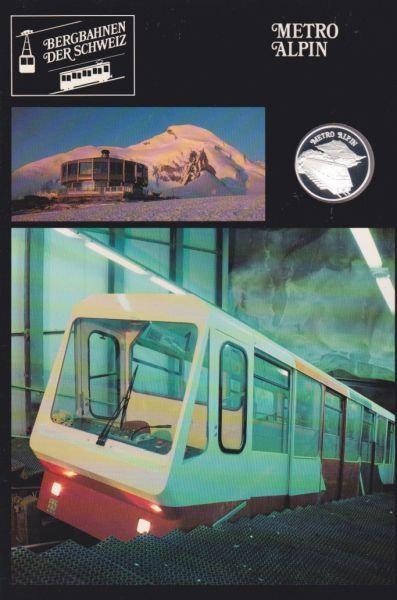 Metro Alpin - Bergbahnen der Schweiz - Silber Medaille