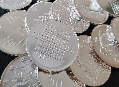 10x 20 Franken Silber Gedenkmünzen