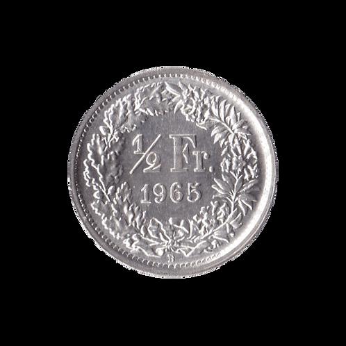 50 Rappen 1965 Schweiz Silber Silbermünze