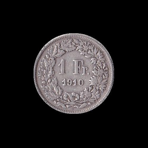 1 Franken 1910 Schweiz Silber Silbermünze