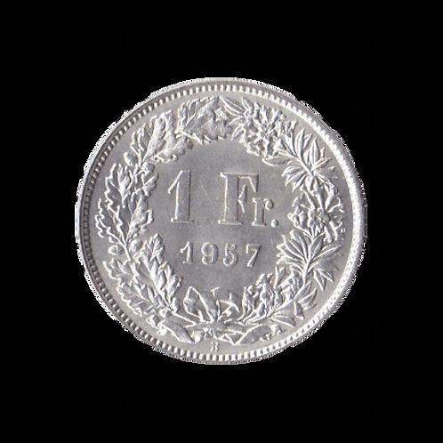 1 Franken 1957 Schweiz Silber Silbermünze