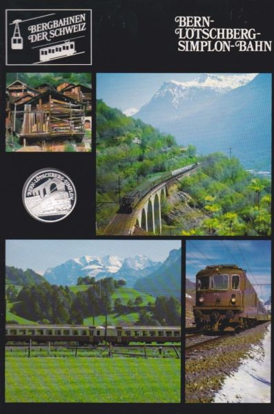 Bern Lötschberg Simplon Bahn - Bergbahnen der Schweiz - Silber Medaille