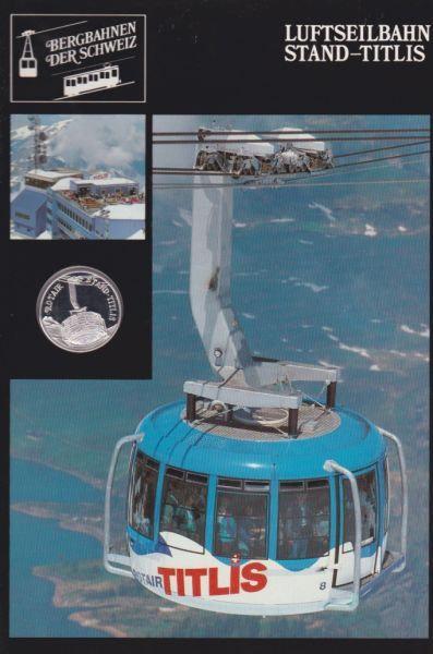 Luftseilbahn Stand Titlis - Bergbahnen der Schweiz - Silber Medaille