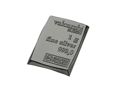 1g 1 Gramm Silberbarren Silber Valcambi