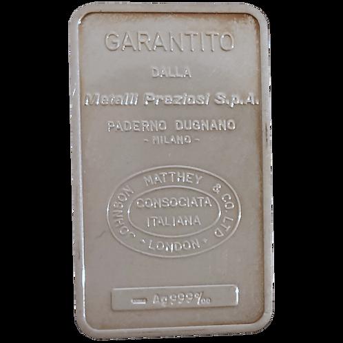 Johnson Matthey Silver Bar Metalli Preziosi Italy Avers
