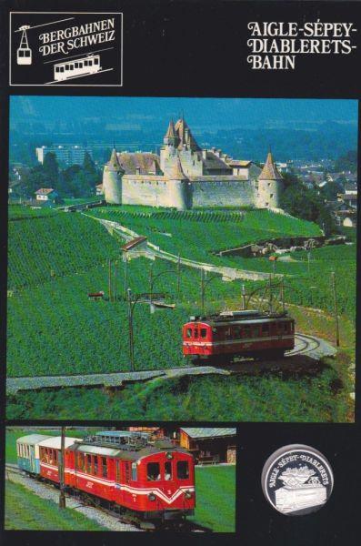 Aigle Sépey Diablerets Bahn - Bergbahnen der Schweiz - Silber Medaille