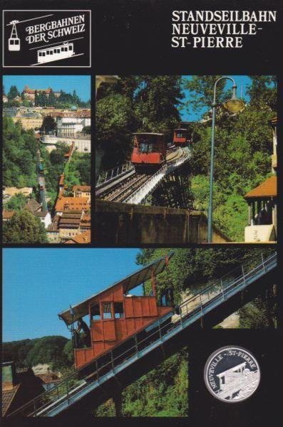 Standseilbahn Neuveville St. Pierre - Bergbahnen der Schweiz - Silber Medaille