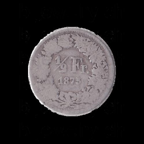 50 Rappen 1875 Schweiz Silber Silbermünze