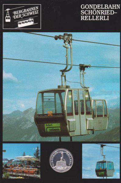 Gondelbahn Schönried Rellerli - Bergbahnen der Schweiz - Silber Medaille