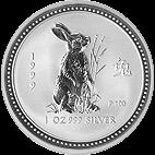 Lunar I - 1 Unze - 1999 Hase