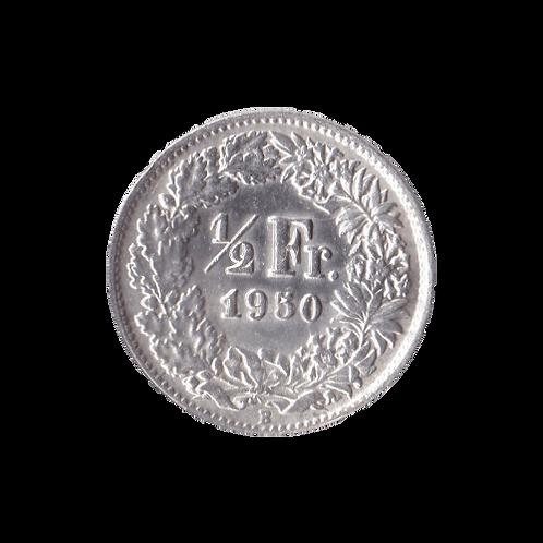 50 Rappen 1950 Schweiz Silber Silbermünze