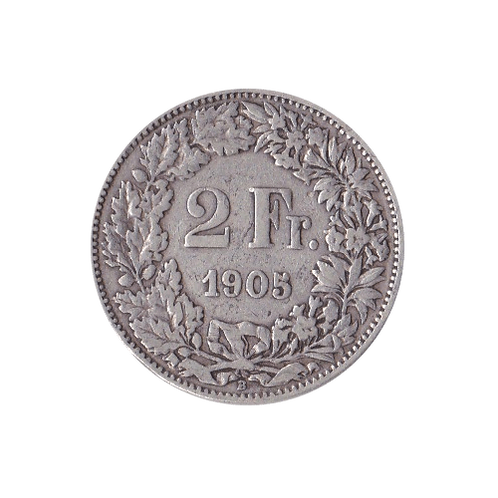 2 Swiss Francs silver 1905