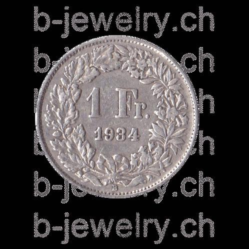 1 Franken 1934 Schweiz Silber Silbermünze