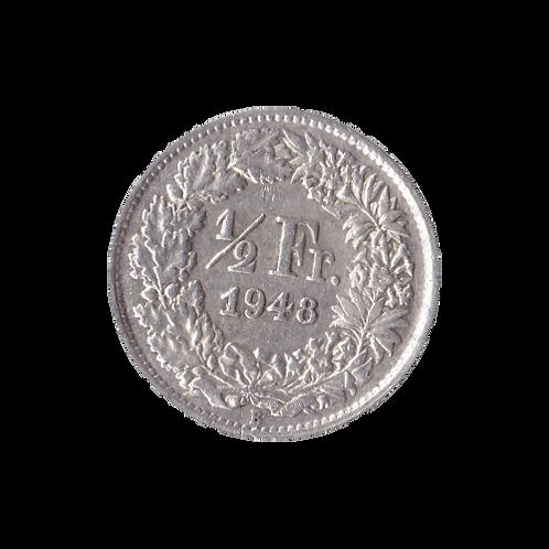 50 Rappen 1948 Schweiz Silber Silbermünze
