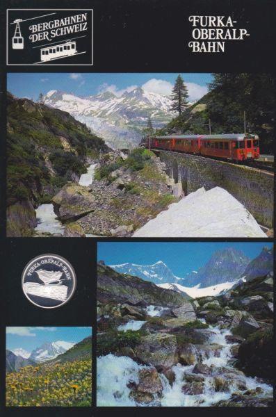 Furka Oberalp Bahn - Bergbahnen der Schweiz - Silber Medaille