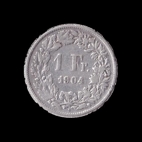 1 Franken 1904 Schweiz Silber Silbermünze