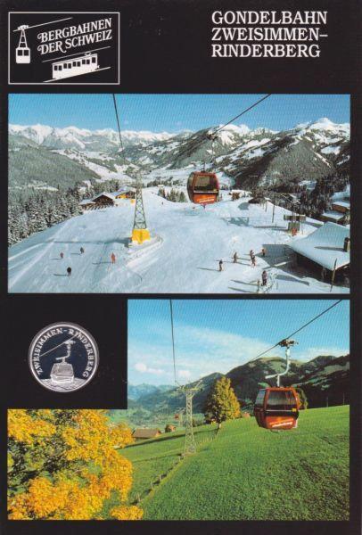 Gondelbahn Zweisimmen Rinderberg - Bergbahnen der Schweiz - Silber Medaille
