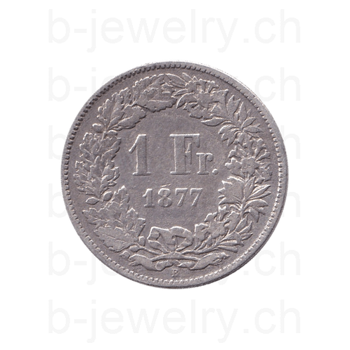 1 Franken 1877 Schweiz Silber Silbermünze