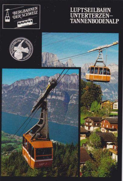 Luftseilbahn Unterterzen Tannenbodenalp - Bergbahnen der Schweiz - Silber Medail