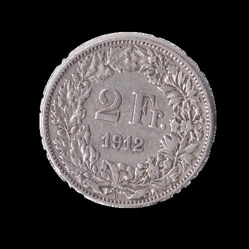 2 Franken 1912 Schweiz Silber Silbermünze