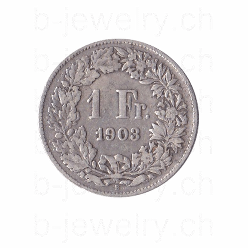 1 Franken 1903 Schweiz Silber Silbermünze