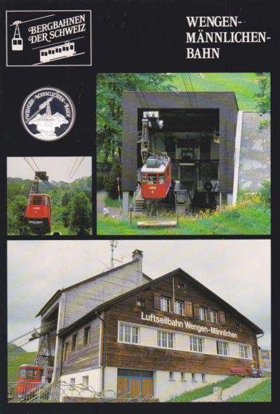 Wengen Männlichen Bahn - Bergbahnen der Schweiz - Silber Medaille