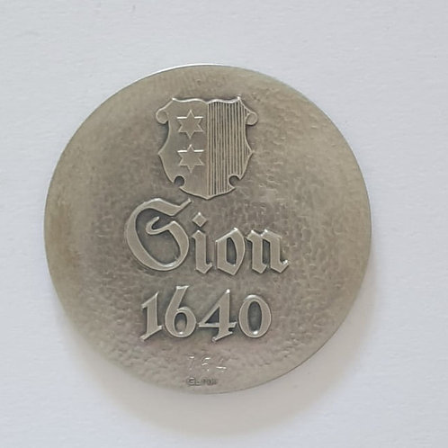 Silbermedaille Sion 1640