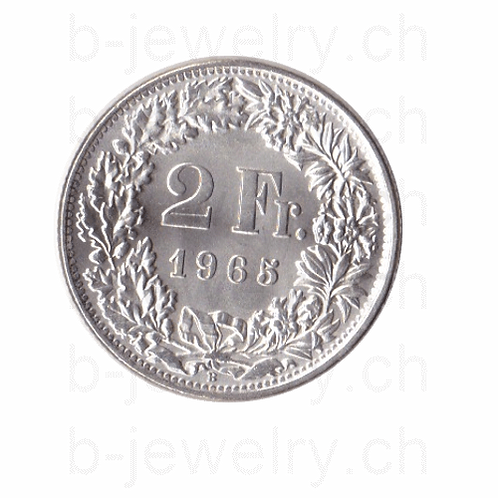 2 Franken 1965 Schweiz Silber Silbermünze