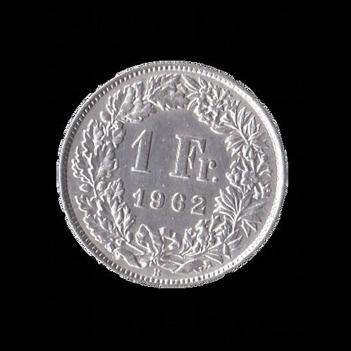 1 Franken 1962 Schweiz Silber Silbermünze