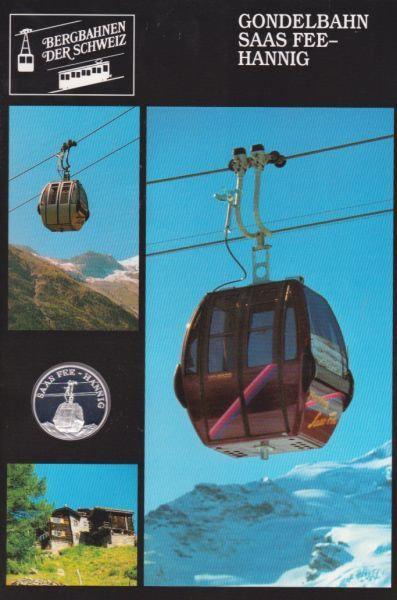 Gondelbahn Saas-Fee Hannig - Bergbahnen der Schweiz - Silber Medaille