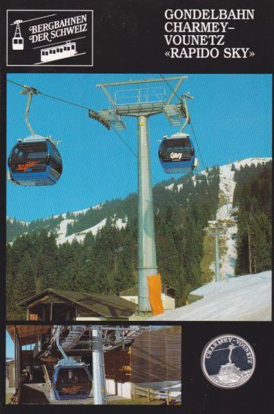 Gondelbahn Charmey Vounet Rapido Sky - Bergbahnen der Schweiz - Silber Medaille