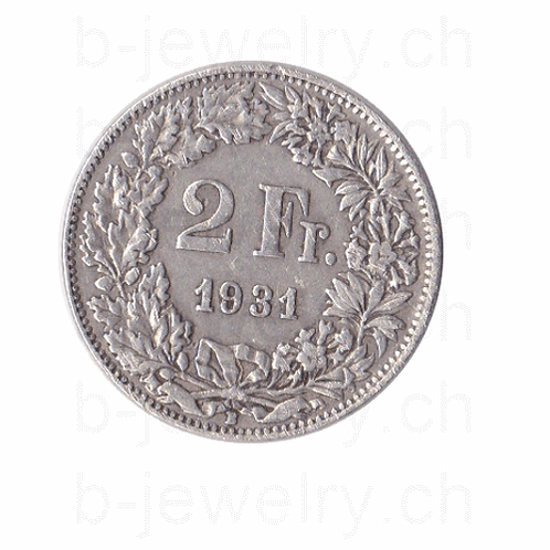 2 Franken 1931 Schweiz Silber Silbermünze