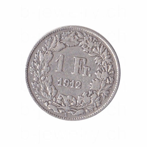 1 Franken 1912 Schweiz Silber Silbermünze