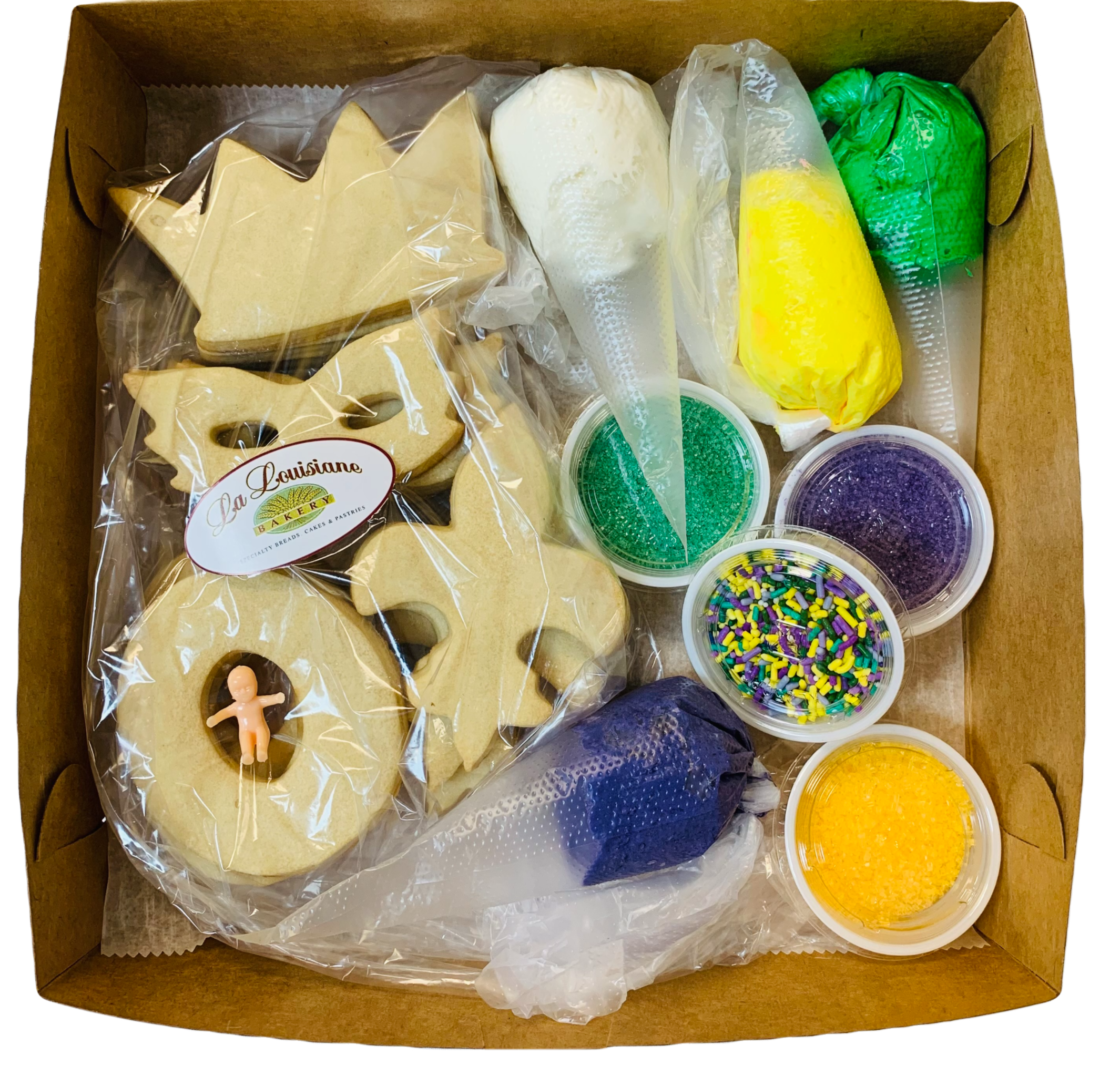 Mardi Gras Cookie Decorating Kit