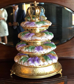 Tiered king cake