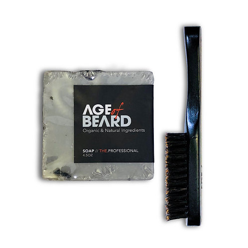 Beard Soap + Brush Combo
