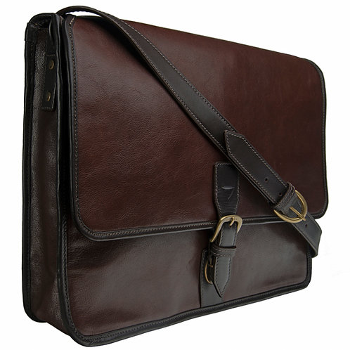 Hidesign Buffalo Leather Laptop Messenger Bag