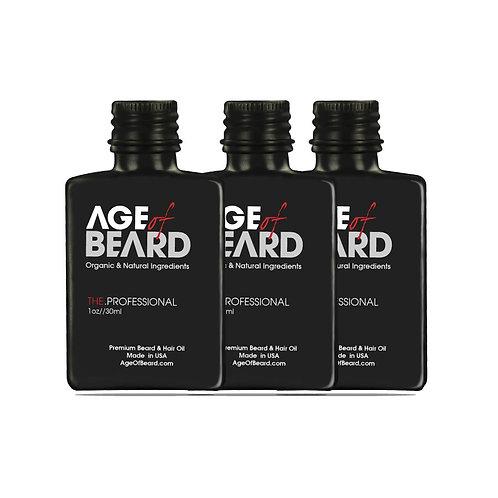 All Natural and Organic Premium Beard Oil (3-Pack)
