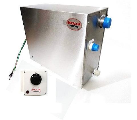 Sauna a Vapor Mini Plus Mar Inox 12kw c/ quadro analógico - Socalor