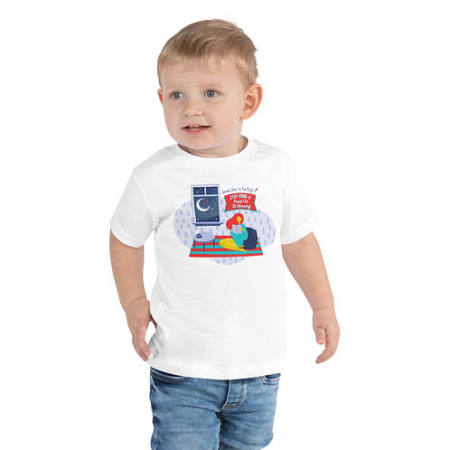 Stay Home and Read Toddler Tee