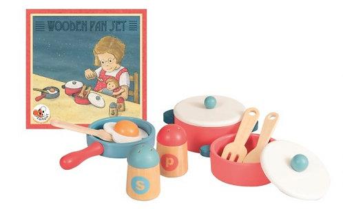 Egmont Wooden Pan Set