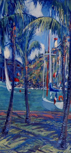 Boats and Palms, Gustavia_edited