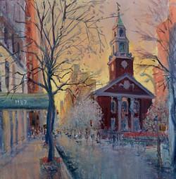 91st Street Sunset, Brick Church_edited