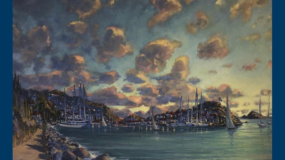 Gustavia Harbor, Sunset, St. Barth's