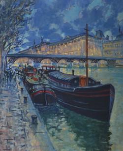 Seine Dusk, Pont Des Arts 24 x 30_edited