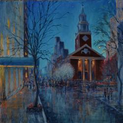 91st Street Dusk, Brick Church_edited