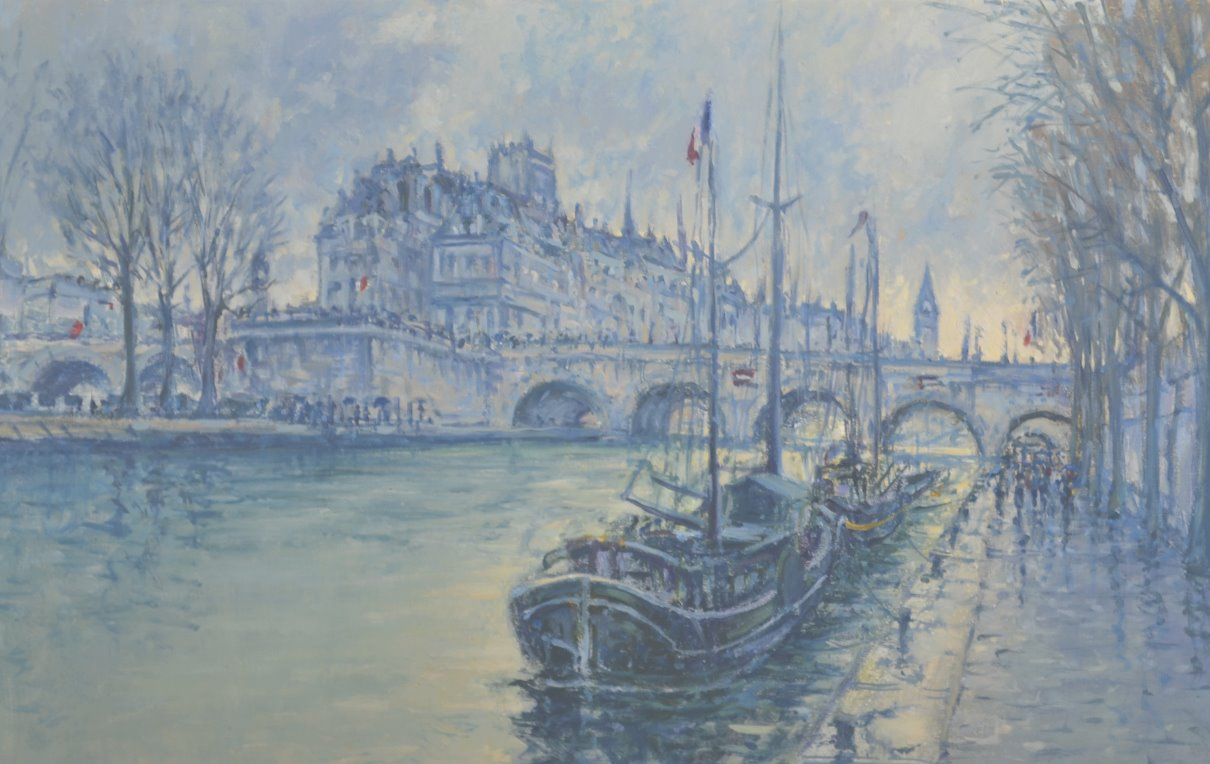 Rainy Day Seine, Pont Neuf 24 x 36_edited