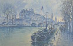 Rainy Day Seine, Pont Neuf 24 x 36_edited
